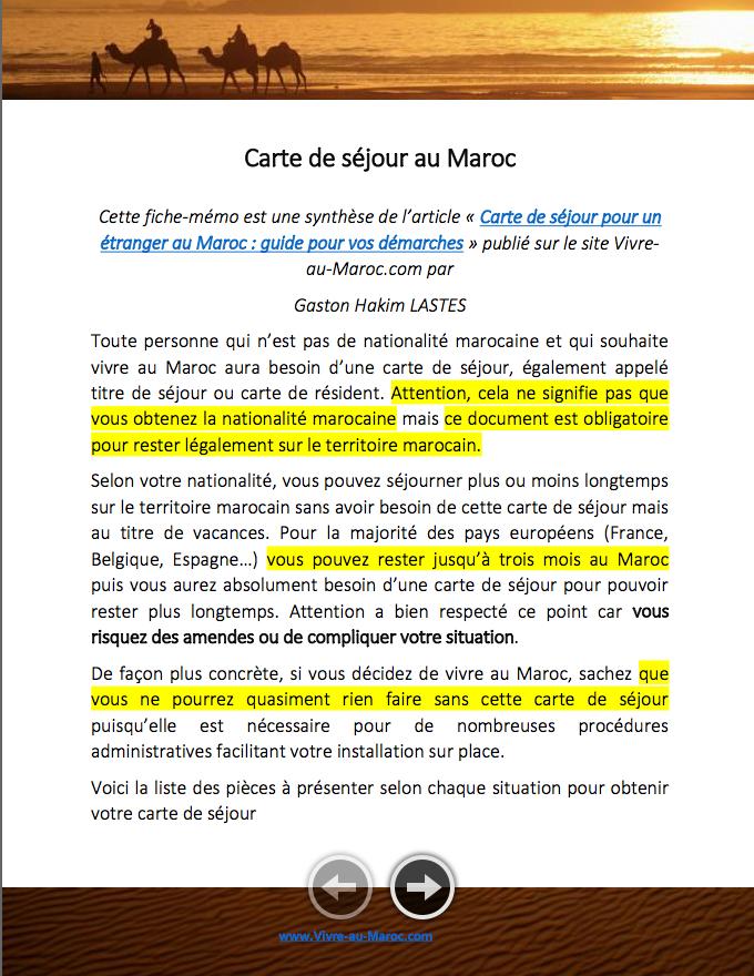 Carte De Sejour Pour Un Etranger Au Maroc Le Guide